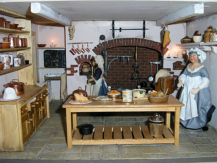 Georgian Dolls House - The Kitchen